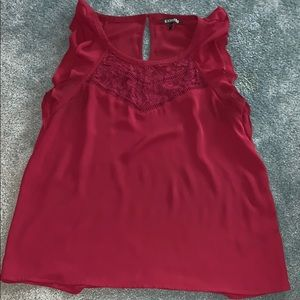 Tops - Express maroon blouse